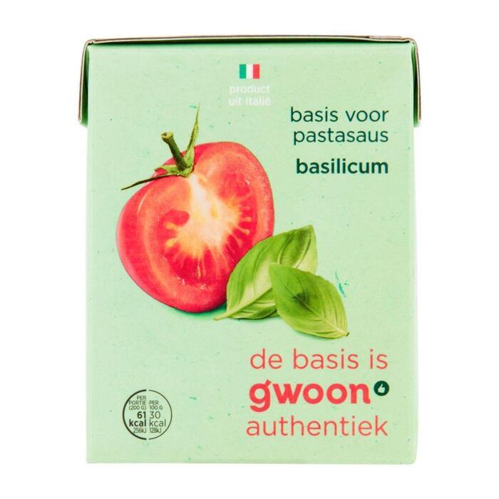 g'woon Basis pastasaus basilicum (390g)