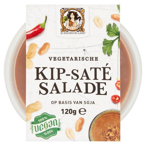 De Vegetarische Slager Vegetarische Kip-Saté Salade 120 g (120g)