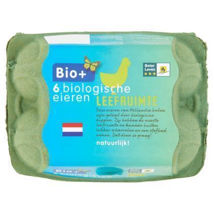 Bio+ Eieren (6 st.)