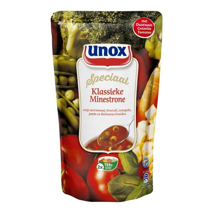 Gevulde minestronesoep (zak, 0.57L)