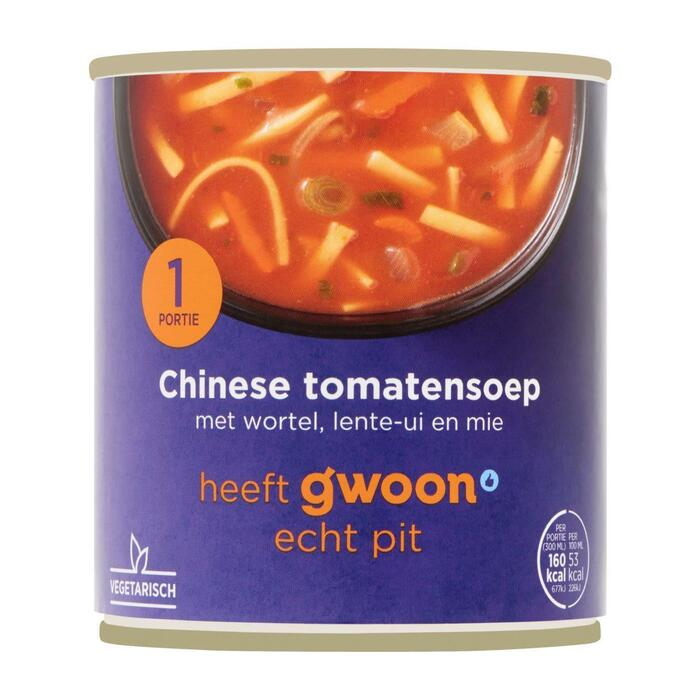 g'woon Chinese tomatensoep (30cl)
