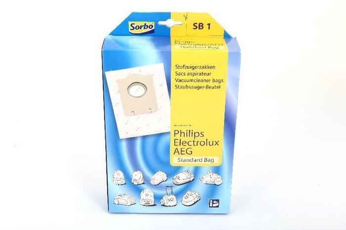 Sorbo SB 1 Stofzuigerzakken voor Philips Electrolux AEG 4 Stuks