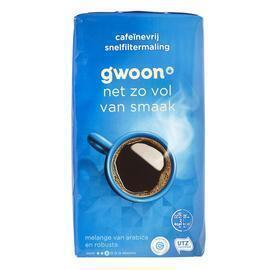 g'woon Cafeïnevrije koffie snelfiltermaling (500g)