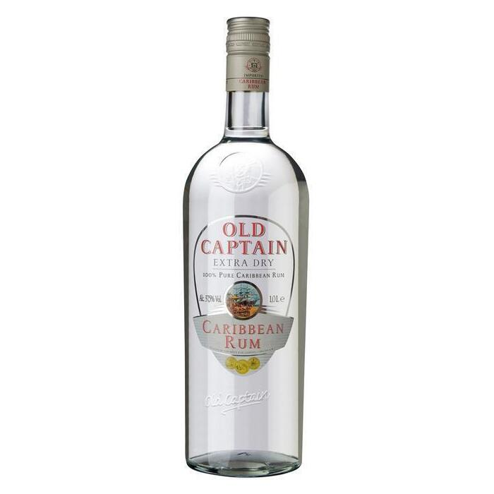 Old Captain Extra dry Caribbean rum (rol, 1L)