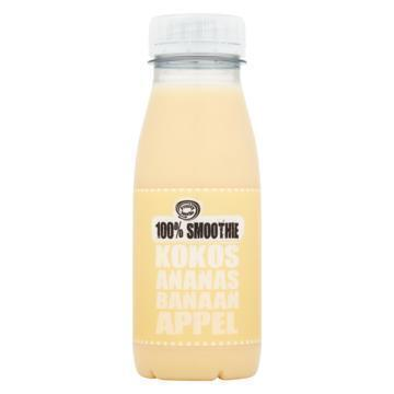 100% smoothie kokos, ananas, banaan, appel (250ml)