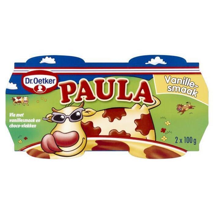 Paula Vla met Vanillesmaak en Chocolade Vlekken (bak, 2 × 200g)