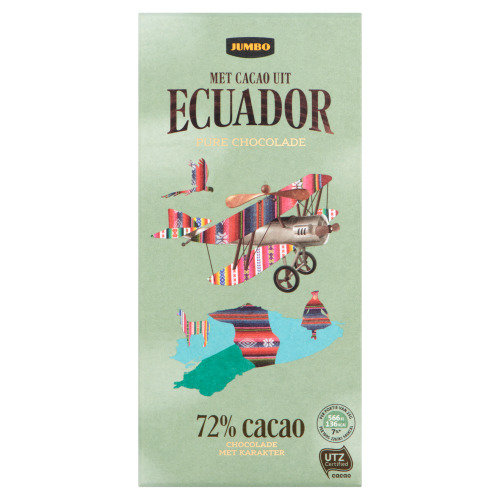 Jumbo Pure Chocolade met Cacao uit Ecuador 100 g (100g)