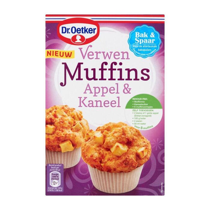 Dr. Oetker Verwen muffin appelkaneel (300g)