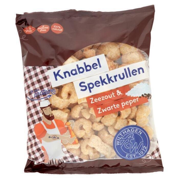 Wilthagen Knabbel spekkrullen peper (75g)