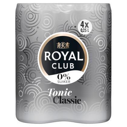 Royal Club Tonic Classic 0% Suiker 4 x 250ML (4 × 250ml)