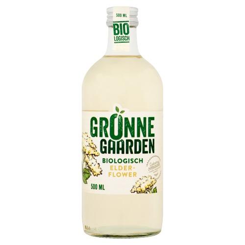 Gronne Gaarden limonadesiroop (biologische) vlierbloesem 500 MLT fles (0.5L)