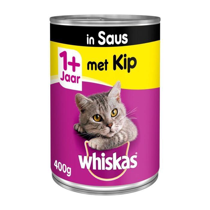 Whiskas met Kip in Saus 1+ Jaar 400 g (Stuk, 400g)