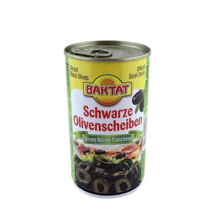 Baktat zwarte olijvenschijfjes 500 ml. (0.5L)