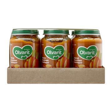 Olvarit Wortel Rundvlees Aardappel |Bruine Bonen Appel Rundvlees Rijst 6+ Maanden Voordeel 6 x 200g (2.4kg)