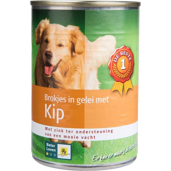 Hondenvoer kip in gelei (415g)