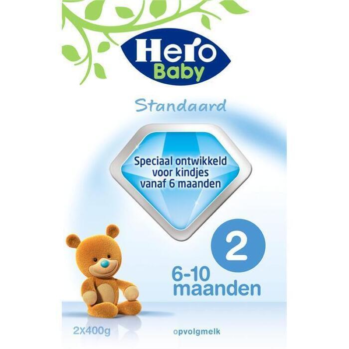 Hero Baby Standaard 2 (2 x 400 g) (Stuk, 2 × 800g)