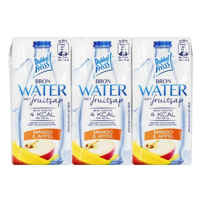 DubbelFrisss Water mango & appel (1.2L)