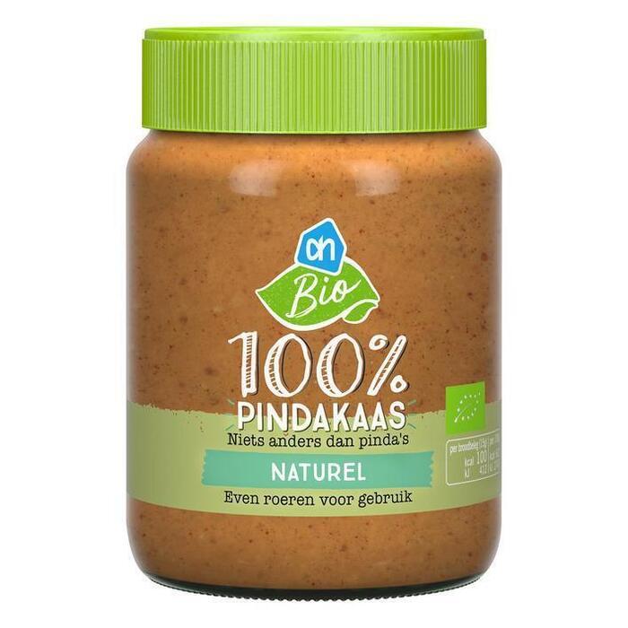 AH Biologisch 100% pindakaas naturel (350g)