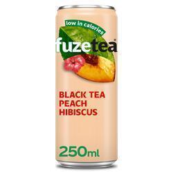 Ice tea zwarte thee perzik hibiscus (250ml)