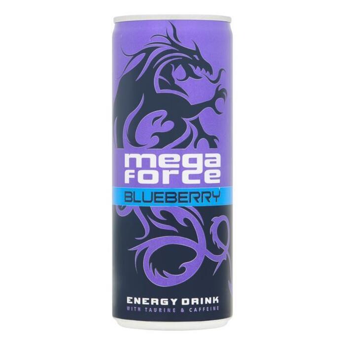 Mega Force Blueberry Energy Drink 25cl (rol, 25 × 250ml)