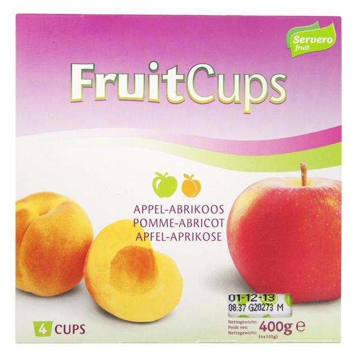 Fruitcups Appel-Abrikoos (4 cups, 400g)