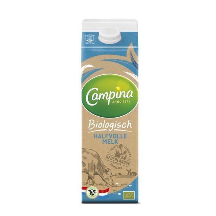 Biologische Halfvolle melk (pak, 1L)