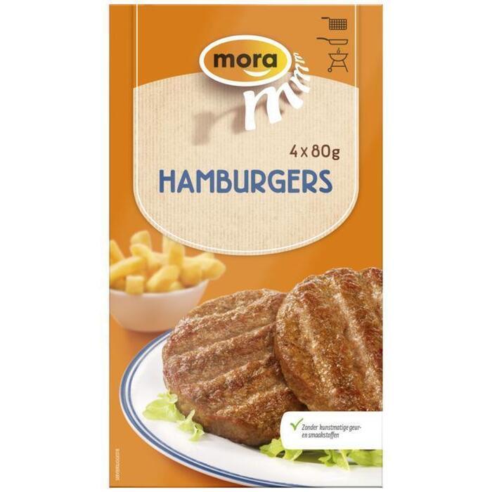 Mora Hamburger Xtra groot (4 × 80g)