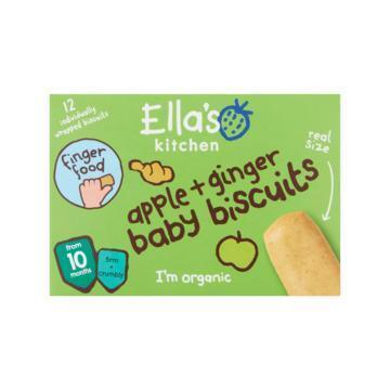 Ella's Kitchen Baby biscuits apple + ginger 10 mnd (12 × 9g)