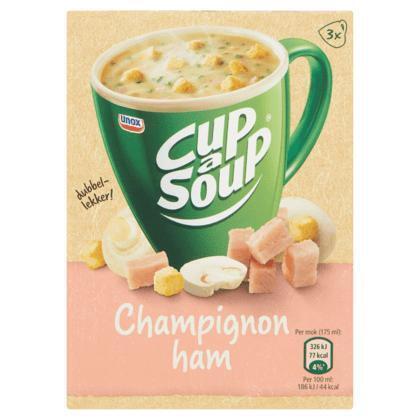 Unox Cup-a-soup champ ham (3 × 48g)
