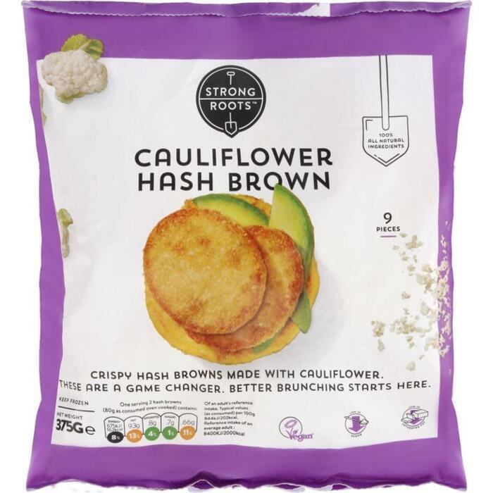 Strong roots Cauliflower hashbrowns (375g)