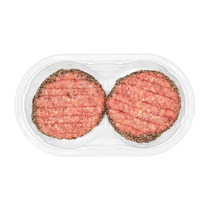 Hamburger pittige peper (2 × 115g)