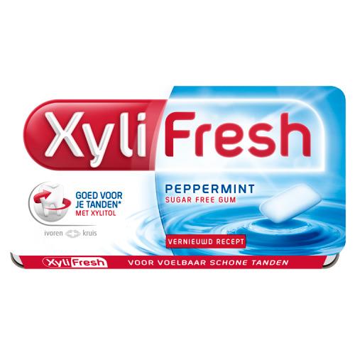 Xylifresh Peppermint Suikervrij Kauwgom Single 12 Stuks 18 g (18g)