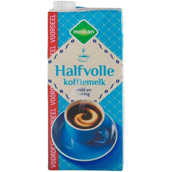 Melkan Halfvolle koffiemelk voordeelpak (0.93L)