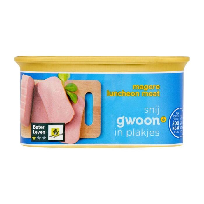 g'woon Luncheon meat mager (200g)