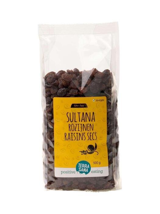 RAW Rozijnen Sultana's TerraSana 500g (500g)