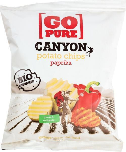 Canyon potato chips paprika (zak, 125g)
