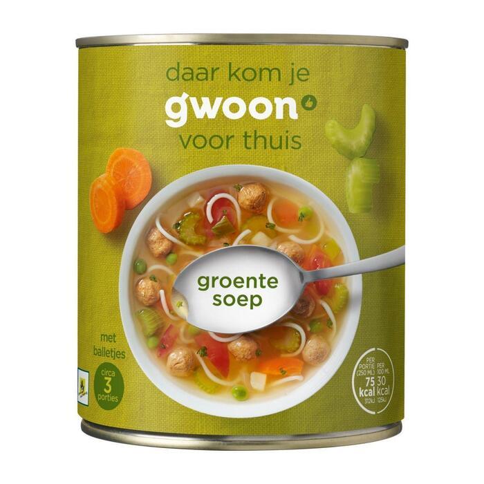 g'woon Beter leven groentesoep (0.8L)