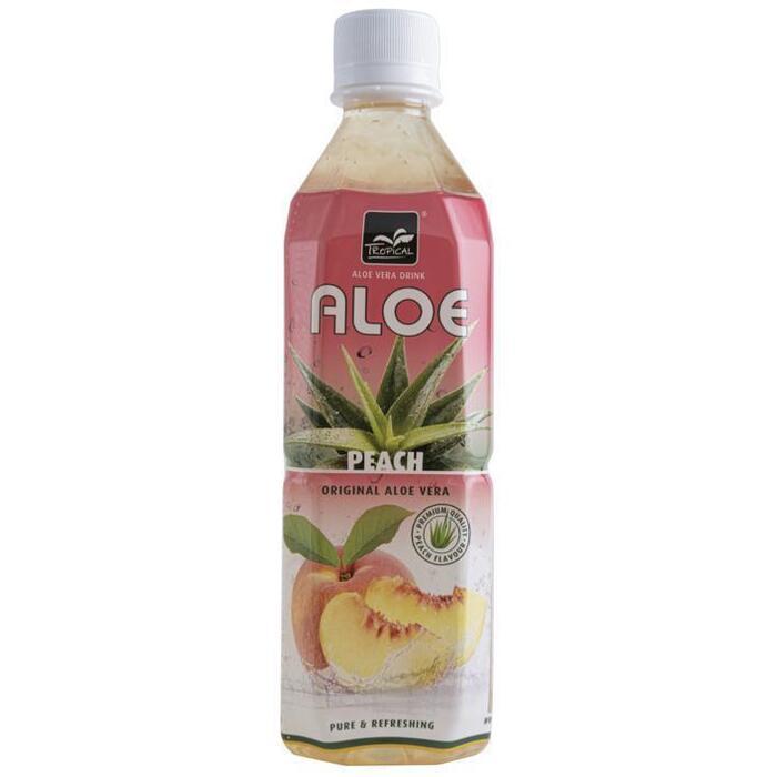 Tropical Aloe Vera Drink Perzik 500 ml (Stuk, 0.5L)
