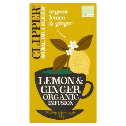 Organic Lemon & Ginger (builtje, 20 × 45g)