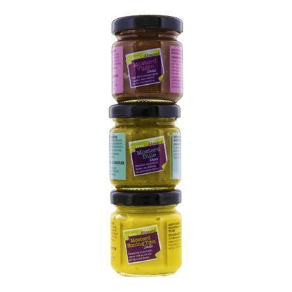 Mosterdsaus trio 3 x 50 ml (150ml)