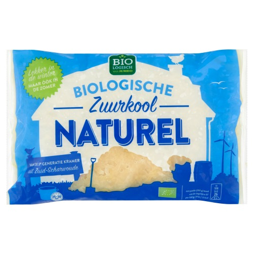 Biologische Zuurkool Naturel (zak, 520g)