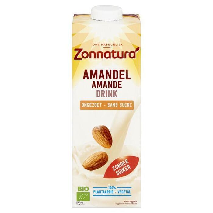 Amandel drink ongezoet (pak, 1L)