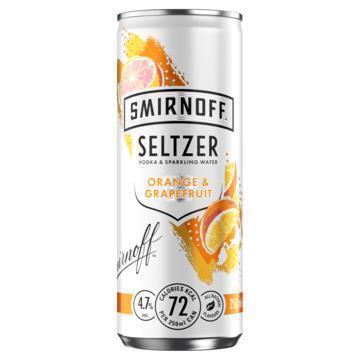 Smirnoff Seltzer Orange & Grapefruit (rol, 250ml)