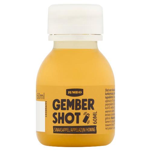 Jumbo Gember Shot Sinaasappel/Appelazijn/Honing 60 ml (60ml)