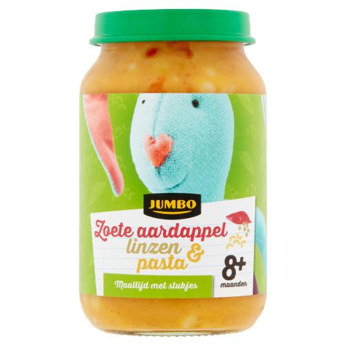 Jumbo Zoete Aardappel Linzen & Pasta 8+ Maanden 200 g (200g)