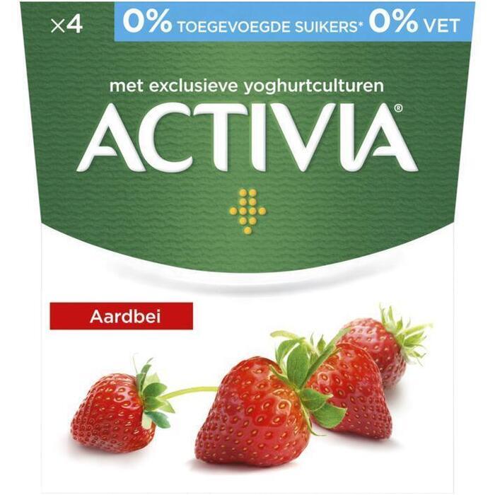 Activia Aardbei 0% (4 × 500g)