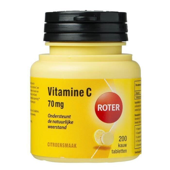 Roter Vitamine C 70 mg kauwtabletten citroen (200 st.)
