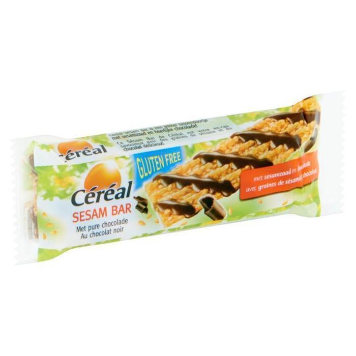 Cereal Sesam bar pure chocolade (33g)