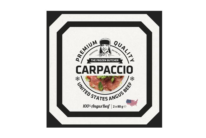 carpaccio family verpakking, The Frozen Butcher (diepvries) (10 × 80g)