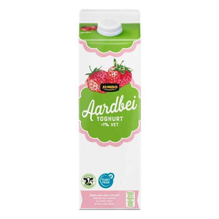 Jumbo Aardbei Yoghurt <1% Vet 1L (1L)